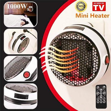 Nifogo Mini Heater - Estufa Eléctrica Portátil de Bajo Consumo, Heater con Enchufe Eléctrico, Ajustable de 15 a 32 °, Ideal para Hogar Oficina BañO ...
