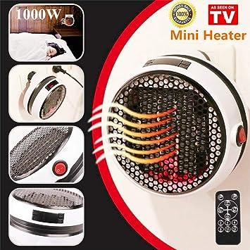 Nifogo Mini Heater - Estufa Eléctrica Portátil de Bajo Consumo, Heater con Enchufe Eléctrico,