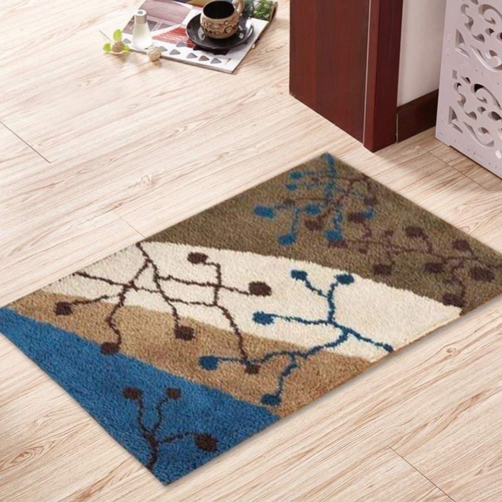 Ylkgogo Latch Hook Kits Crochet Yarn Kits, DIY Tools Needlework Unfinished Crocheting Rug Yarn Cushion Embroidery Carpet Set 23.6'' X 15.8'' (Atom)