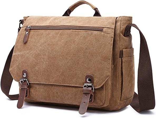 Herren Umhängetasche Canvas Schultertasche Messenger Bag Tasche Arbeitstasche DE