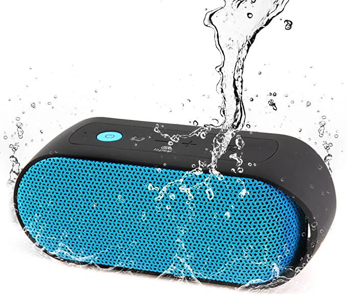 TEWELL Portable Bluetooth Speakers Waterproof for Outdoor 10W Rich Sound with Deep Bass 5-7 Hours Playtime Shower and Bedroom