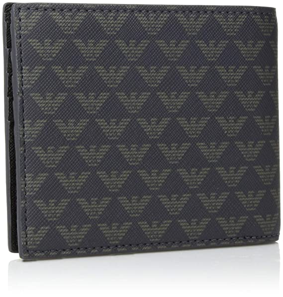 cd2b3c0e Amazon.com: Emporio Armani Bifold Wallet, blu Indigo: Clothing