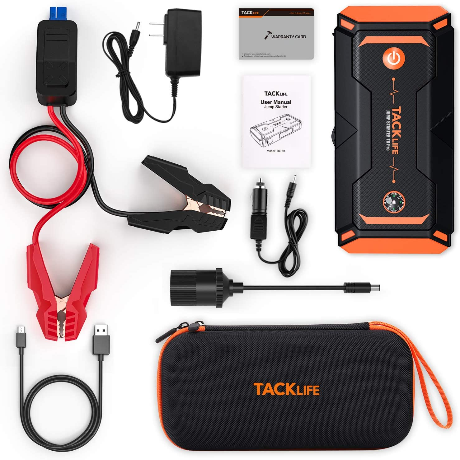 Jump Starters USB Quick Charge up to 7.0L Gas, 5.5L Diesel Engine ...