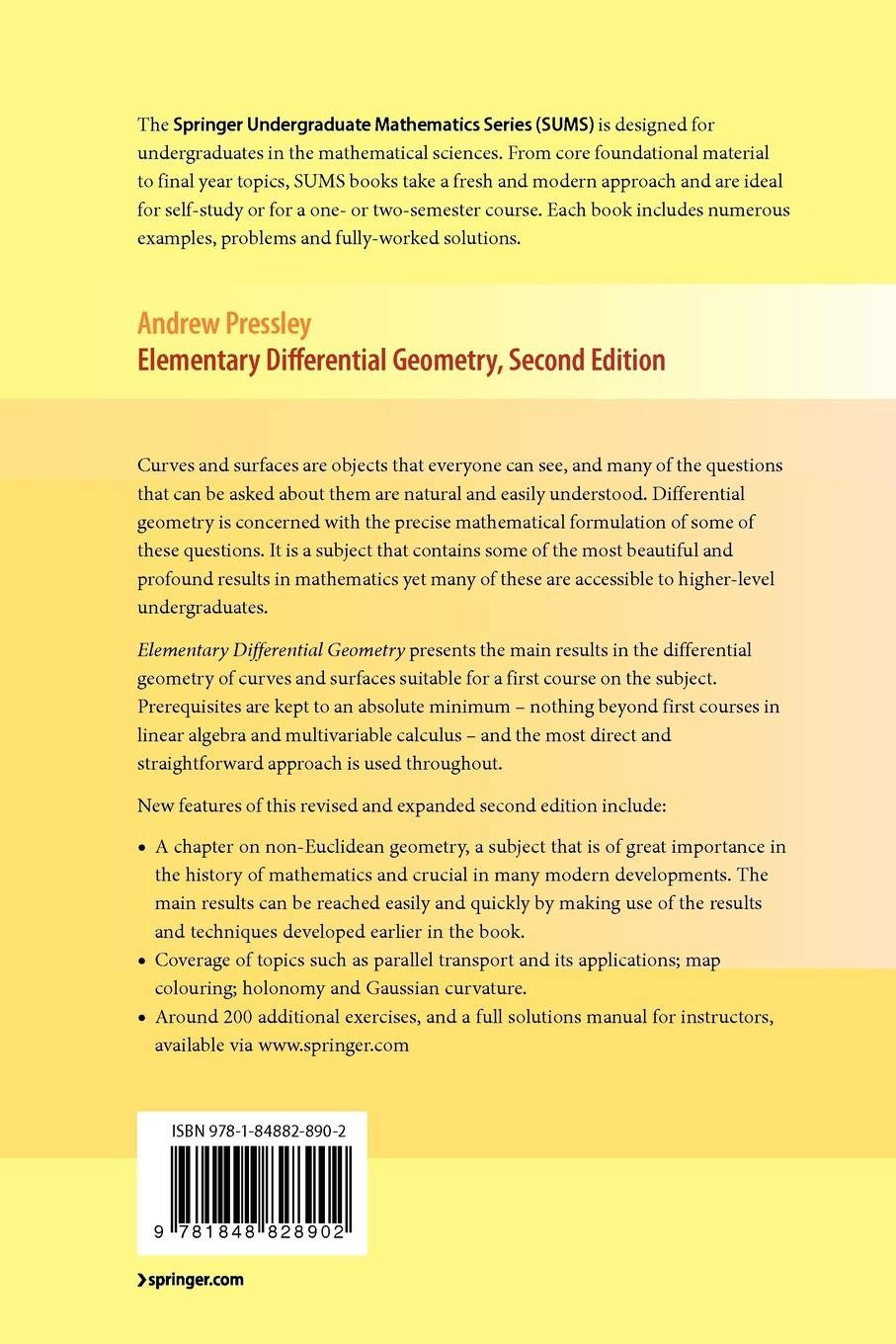 Andrew Pressley Elementary Differential Geometry Pdf