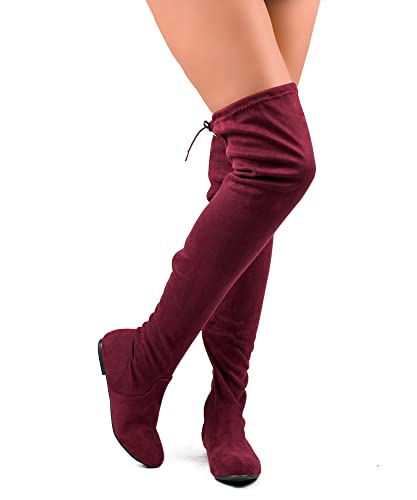 Amazon.com | ROF Women Fashion Comfy Vegan Suede Side Zipper Over ...