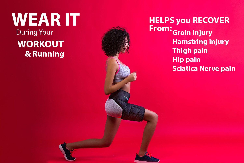 Amazon Odofit Unique Support Brace For Groin Hip Quadricep