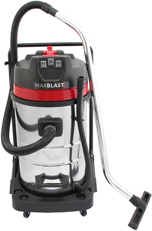 MAXBLAST- Aspirador Húmedo y Seco, 80L Aspiradora Hogar 3000W, Cable Largo de 9 Metros, 3 Accesorios: Amazon.es: Electrónica