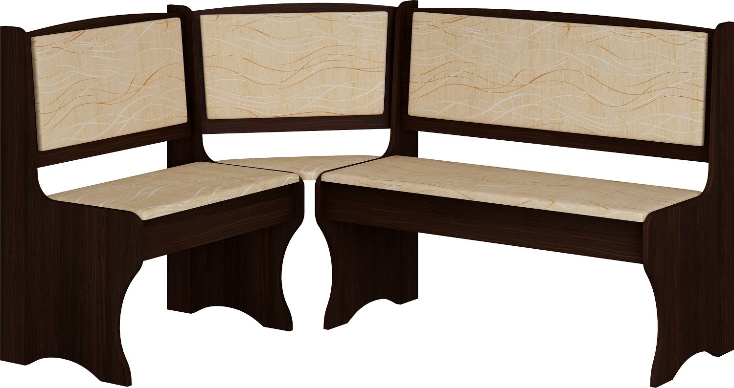 Amazon.com: Breakfast Kitchen Nook Table Set, L-Shaped Storage Bench with  Chairs, Vange Color: Kitchen & Dining