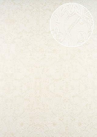 Barock Tapete Atlas Cla 600 1 Vliestapete Gepragt Mit Ornamenten