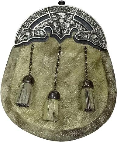 New Full Dress Kilt Sporran Formal Seal Skin Celtic Cantle//Mens Sporran//sporrans