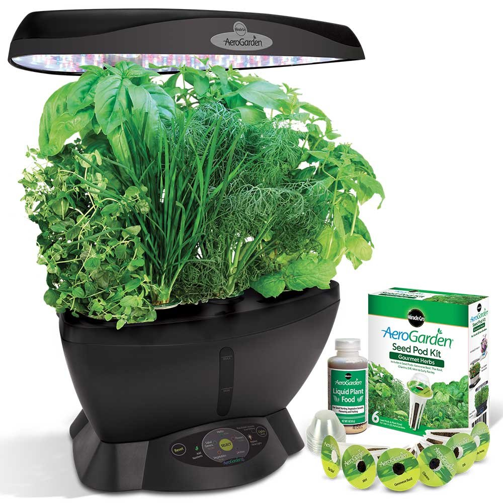 Led Kitchen Garden Amazoncom Miracle Gro Aerogarden Classic 6 With Gourmet Herb