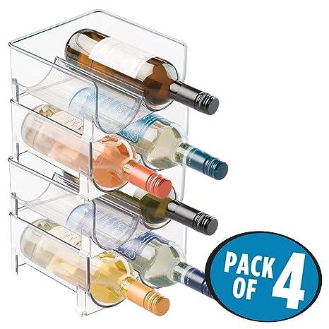 Ordinaire MDesign Stackable Wine Bottle Storage Rack For Kitchen Countertops, Cabinet    Holds 8 Bottles,