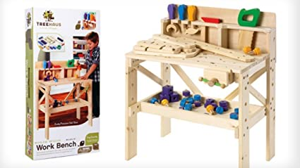 amazon com treehaus wood workbench toys games
