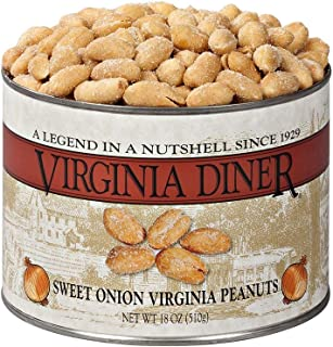 product image for Virginia Diner - Gourmet Natural Sweet Onion Virginia Peanuts, 18 Ounce Tin