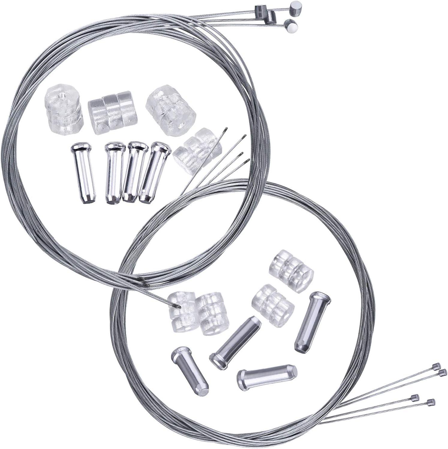 10 X Fahrrad Endkappe Endhülse For Bremsseil Schaltseil Bremszug Schaltzug