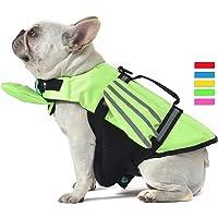 French Bulldog Dog Life Jacket, Wings Design Pet Life Vest, Dog Flotation Lifesaver Preserver Swimsuit with Handle for…
