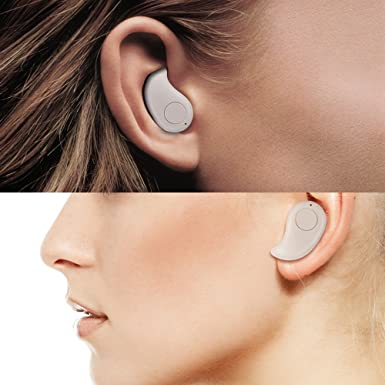 GENORTH Wireless Mini Invisible Bluetooth auricular auriculares más pequeño auricular para iPhone Samsung Sony Lenovo HTC