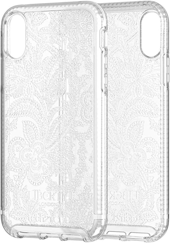 tech21 - Pure Design Liberty London Grosvenor - Phone Case for iPhone XR - Ultra Thin, Drop Protection of 10FT or 3M - Bulk Packaging - Clear