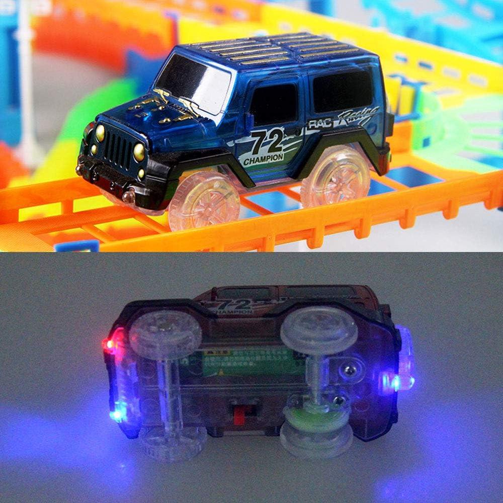 DANRAN Glowing Railway Circuits Automobiles Jouets de Bricolage Flexible Bend Magique Piste Route Kits Flash Light Rail de Montage de Voitures Jouets Cadeaux pour Les Enfants,03
