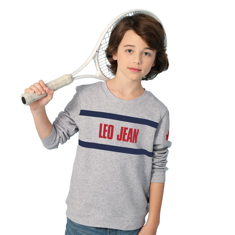 Leo&Lily Big Boys' Kids Sports Fleece Sportswear Hoodie Pullover (Navy,7)
