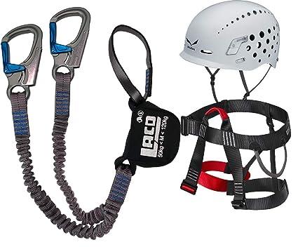 Klettersteigset Helm : Klettersteigset lacd pro evo gurt easy ferrata helm salewa