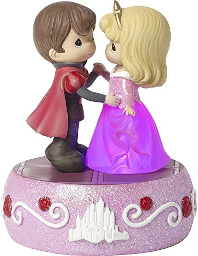 Precious Moments, Disney Showcase Sleeping Beauty, Aurora Light Up Music Box, Dancing On A Dream, Resin, 171103