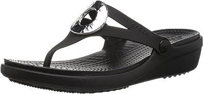 Crocs Women's Sanrah Hammered Metallic