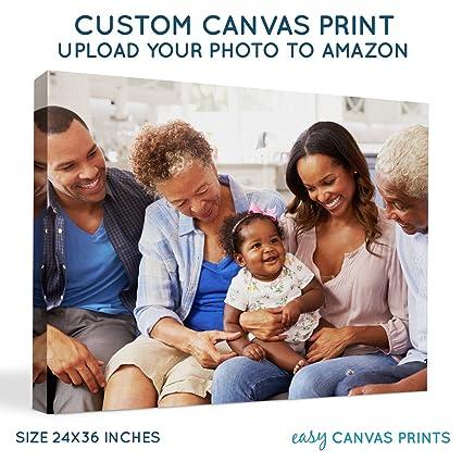 amazon com your photo on custom personalized canvas prints 24x36