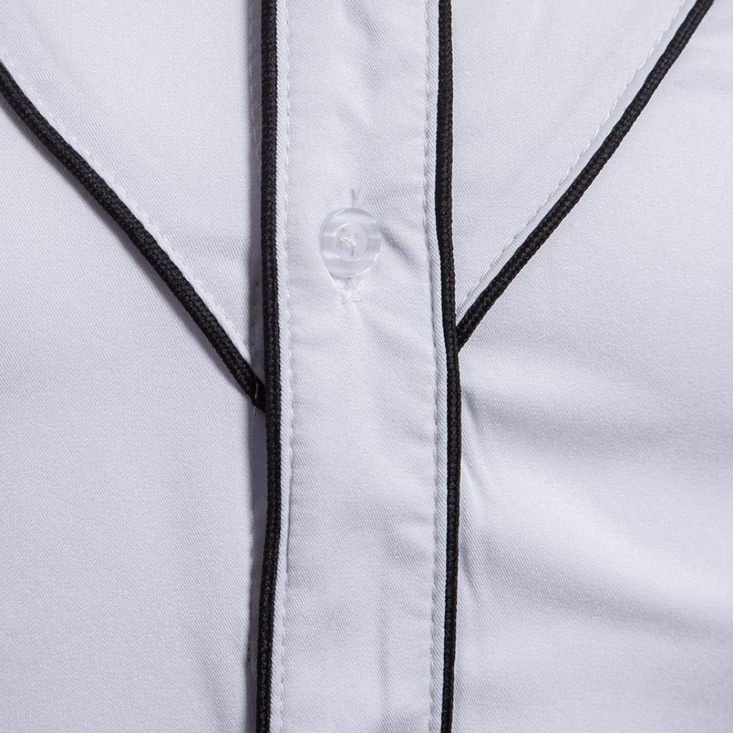 Blusa de Hombre de BaZhaHei, Men Camisetas de Hombre Cool Shirt Casual de Manga Larga para Hombre Camisa de Rayas Top Interior al Aire Libre Blusa Polo de ...