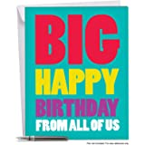 J3900BDG Jumbo Birthday Card: Big Happy Birthday From Us With Envelope (Extra Large Version: 8.5'' x 11'')