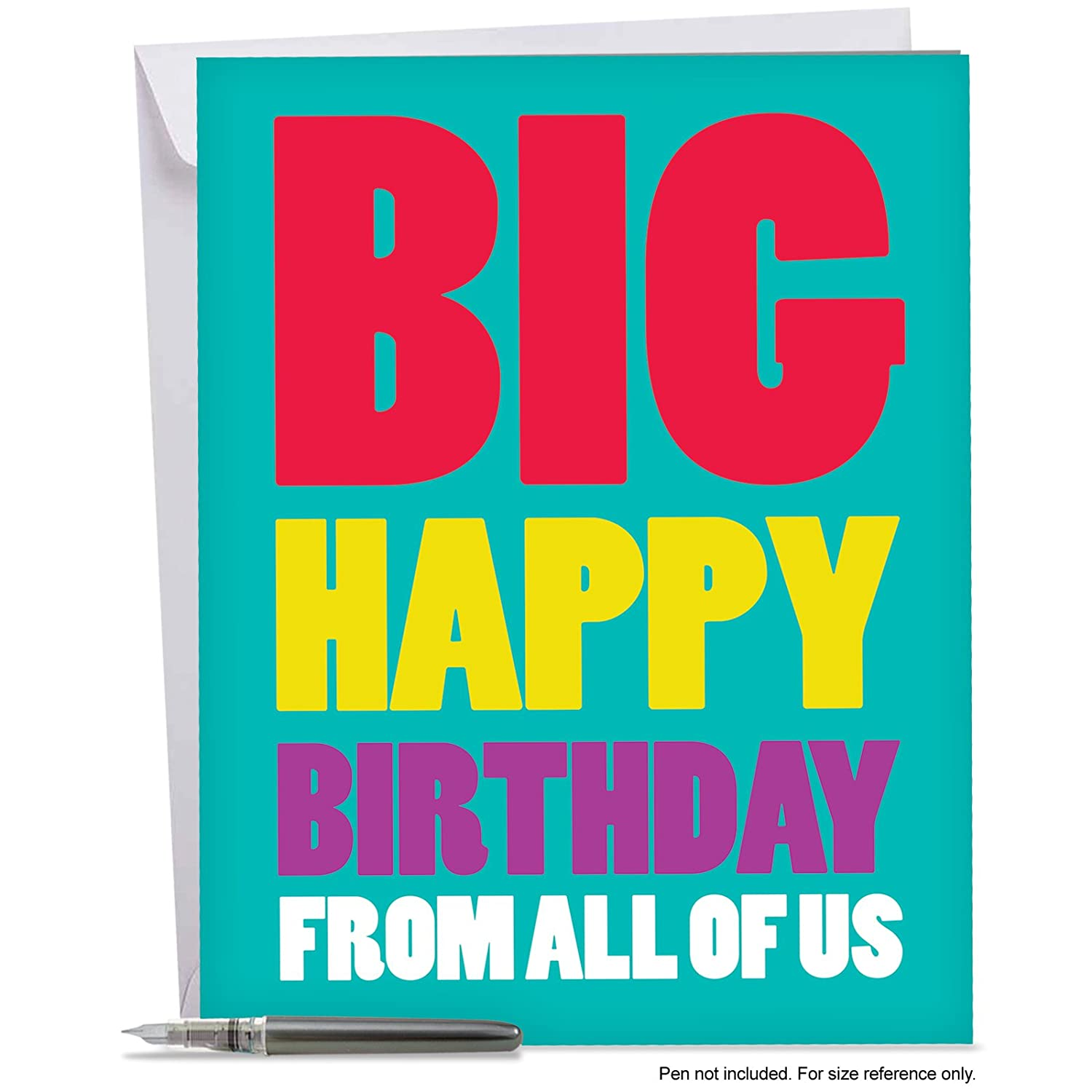Amazon Xl Happy Birthday Greeting Card 85 X 11 Big Happy