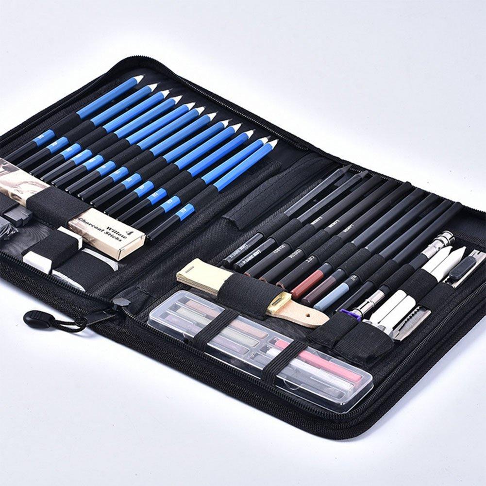 iiinsixse Sketch Pencil Set Charcoal Pencil Art Piezas Lápiz Set 48 Piezas Art representan conjunto de pinceles 4a62a1