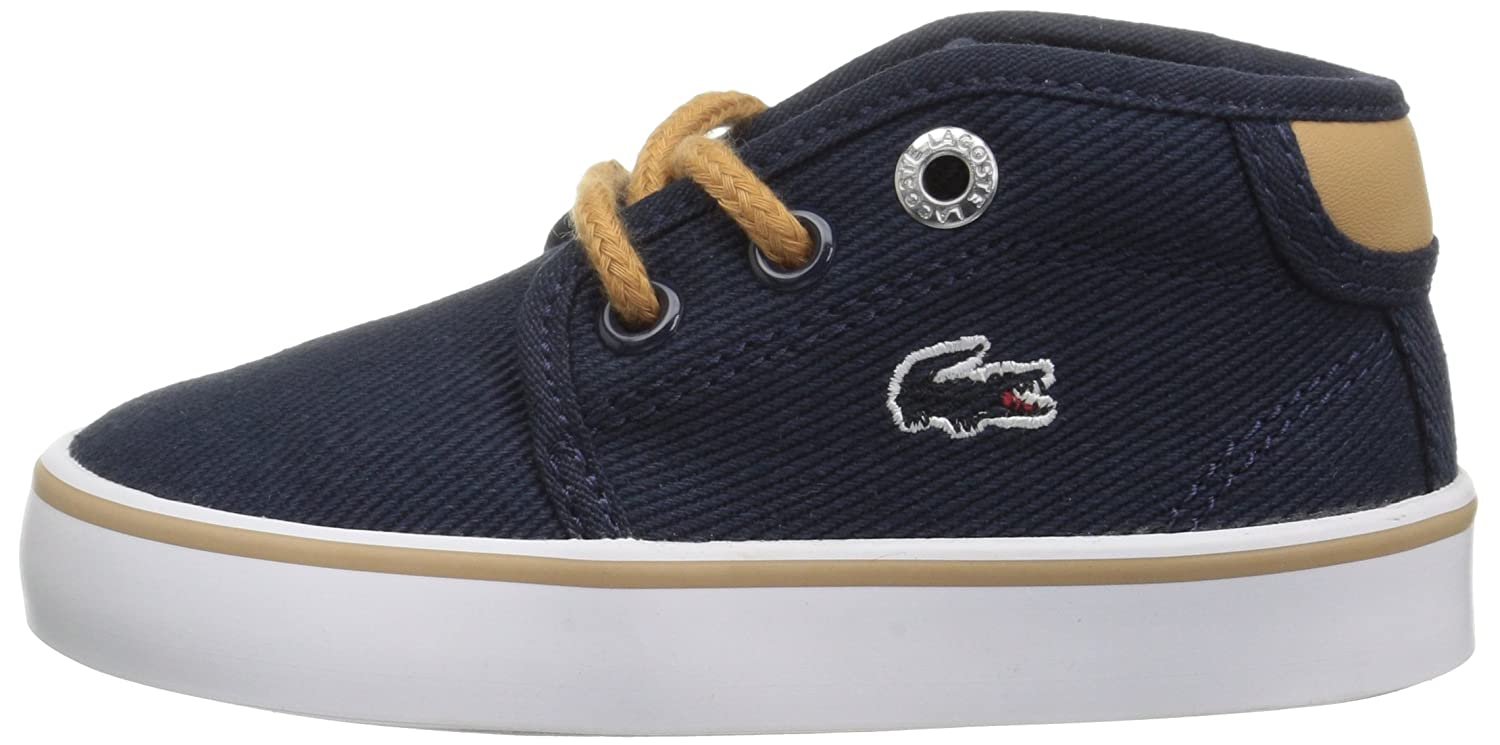 9.5 Lacoste Baby Ampthill Chukka Boot M US Infant Navy Canvas