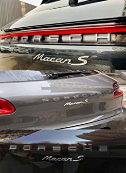 REAR LETTERS Emblem Badge 3D Replacement For 991 GT3RS 911 GT2 MACAN TAYCAN PANAMERA ETC Decal Sticker Fender Pack of 1 RENGVO Tailgate GLOSS BLACK Rear Trunk