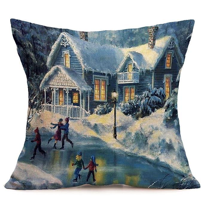 Amazon.com: Merry Christmas - Funda de almohada para sofá ...