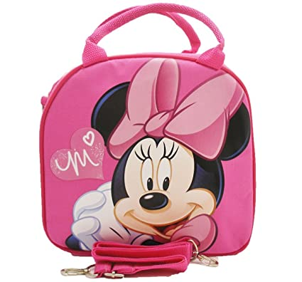 8a2c8d1cfed Amazon.com  1 X Disney Minnie Mouse Lunch Box Bag with Shoulder Strap and  Water Bottle  Toys   Games