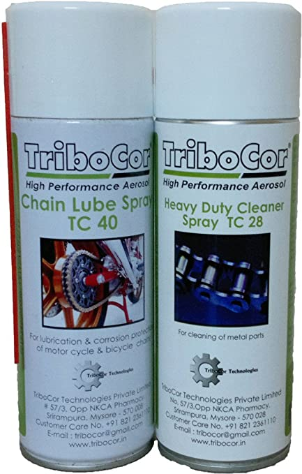 Tribocor Chain Lube & Chain Cleaner Spray (500Ml 2 Qty)