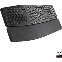 Logitech ERGO K860 Bezprzewodowa ergonomiczna klawiatura z podzielonym układem klawiatury, podpórka pod nadgarstek…