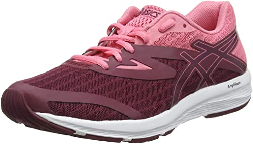 belt escalator Labor  Asics Amplica, Women's Running Shoes, Pink (Cordovan/Peach Petal 600), 3.5  UK (36 EU): Amazon.co.uk: Shoes & Bags