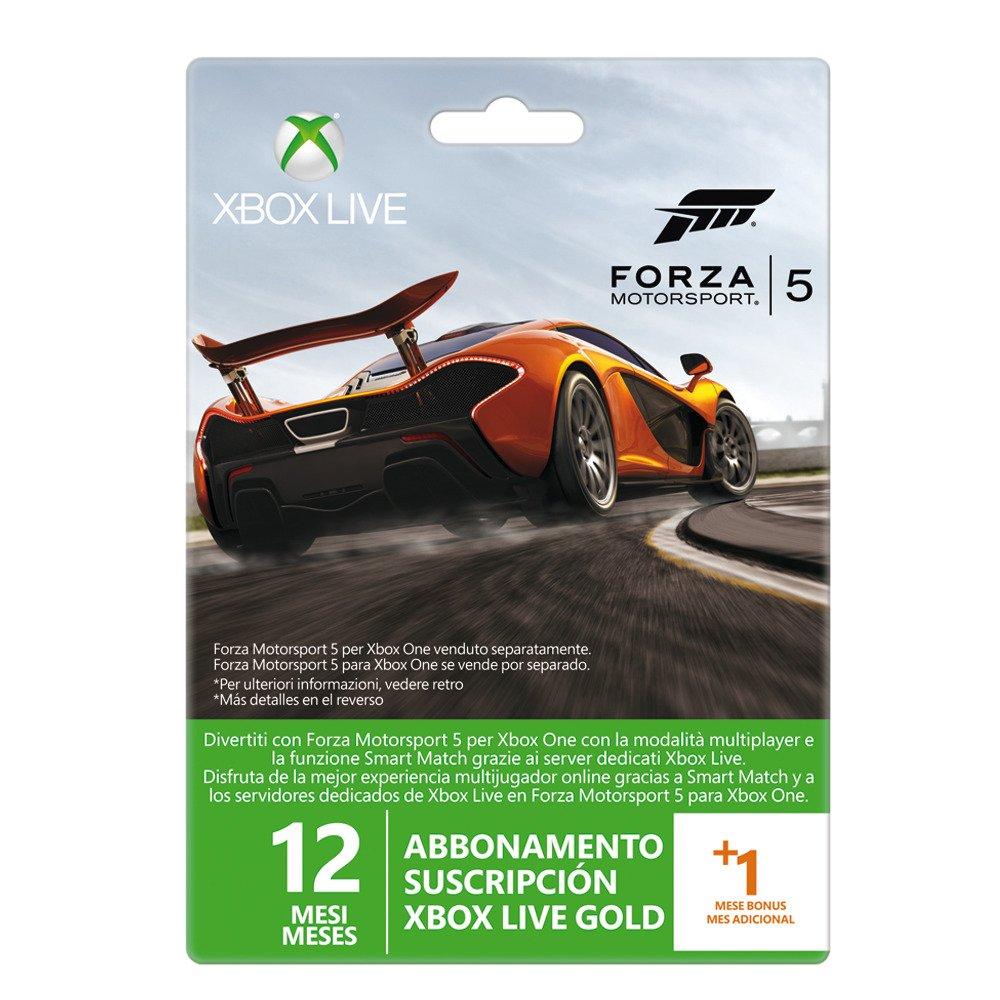 Microsoft - Tarjeta Live De 12 Meses + 1 Mes Forza 5 (Xbox ...