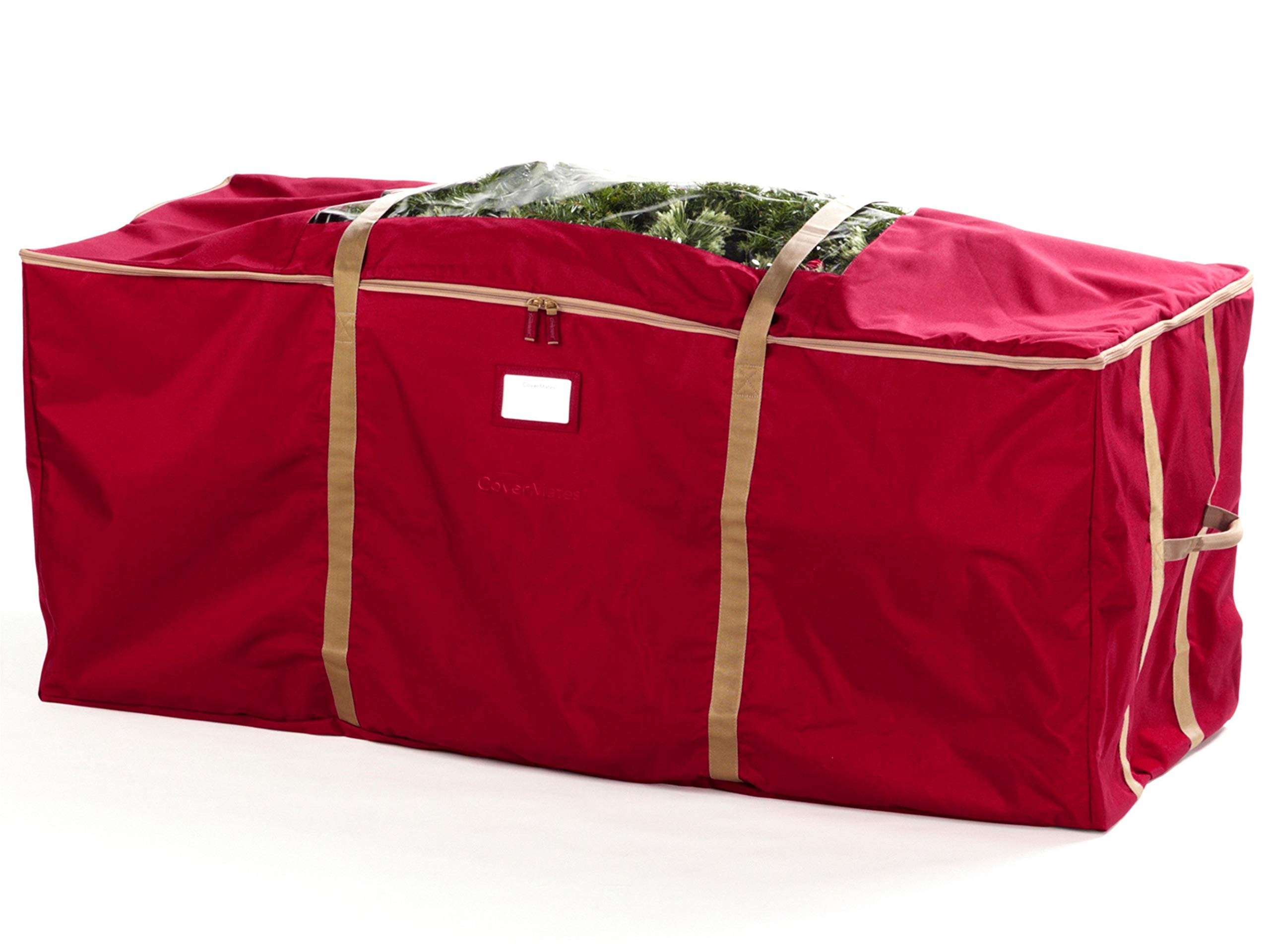 Covermates - Holiday Tree Storage Bag - Fits 9 to 11 Foot Tree - 3 Year Warranty - Red by Covermates