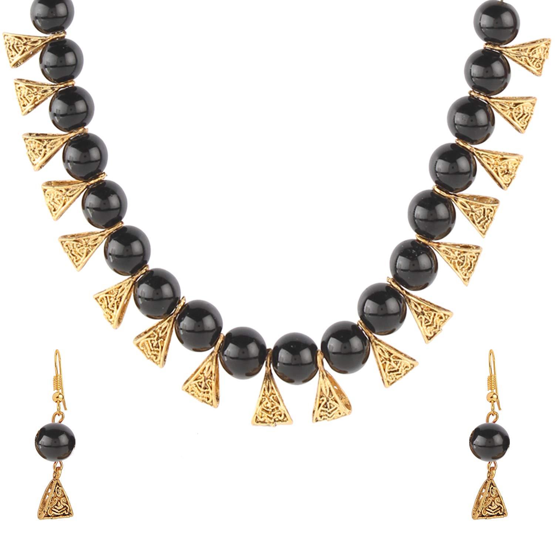 d40c74f745598 Amazon.com: Efulgenz Boho Indian Oxidized Faux Pearl Beaded Vintage ...