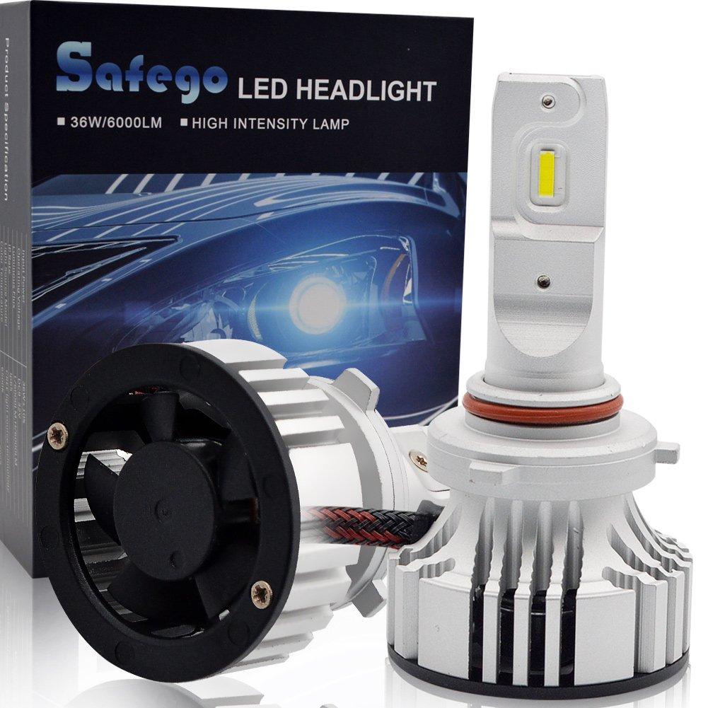 9005 LED Kit Lampadine Faro Auto - Safego HB3 72W 6000LM Kit Conversione LED Automatico Chip LED Sostituisci per Luci Alogene Auto o Lampadine HID 12V X