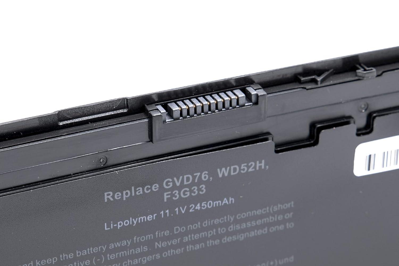 vhbw Litio polímero Ordenador batería 2450mAh (11.1V) Negro para Ordenador polímero portátil Laptop Notebook DELL Latitude 12 7000, E7240, E7250 aff838