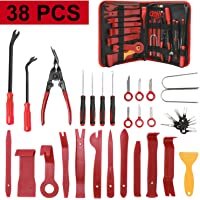 NovelBee 38 kits de herramientas de extracción de embellecedores, panel de coche, tablero de audio, herramienta de…