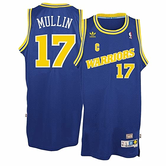 Chris Mullin Golden State Warriors #17 Blue Adidas Youth Hardwood Classic Swingman Jersey (Small