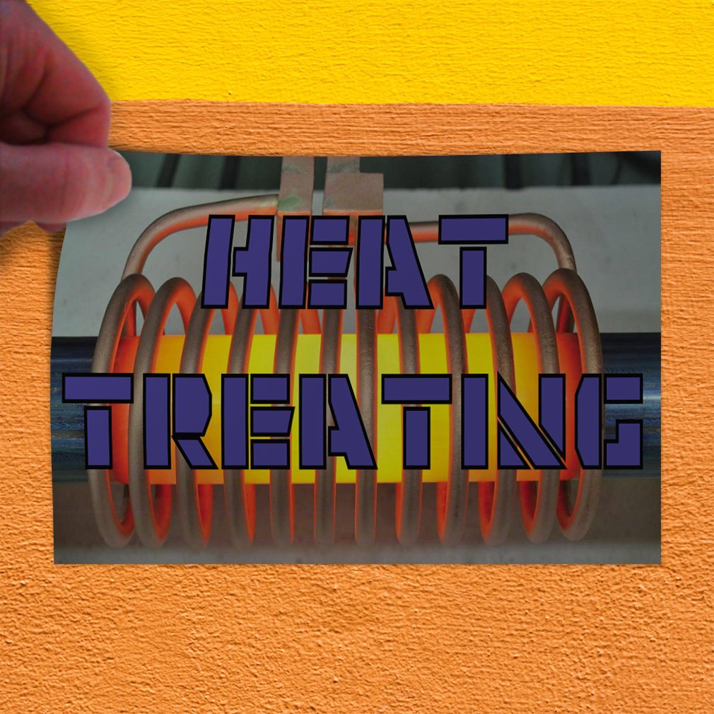 Decal Sticker Multiple Sizes Heat Treating Business Heat Treating Outdoor Store Sign Blue Set of 10 14inx10in