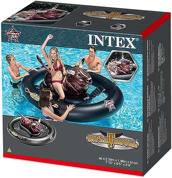Intex 56280EU - Centro juegos hinchable Toro flotante 239 x 196 x 81 cm: Amazon.es: Juguetes y juegos