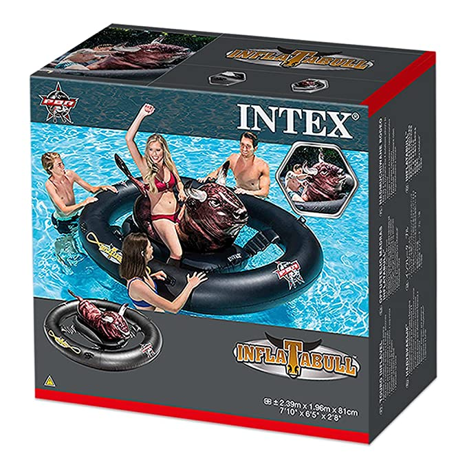 Intex 56280EU - Centro juegos hinchable Toro flotante 239 x 196 x 81 cm