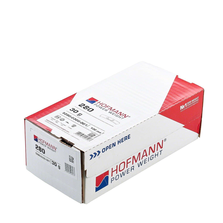 Hofmann Power Weight 100x Schlaggewichte Stahlfelgen 30g Auswuchtgewichte Wuchtgewichte Stahlfelgen Leichtmetallfelgen